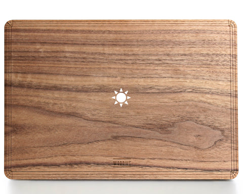 Sun - Macbook Wood Case - Walnut