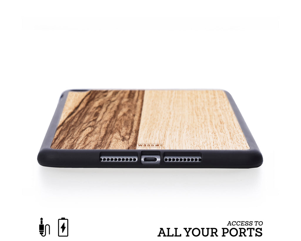 Ipad Case - Black Frake Wood