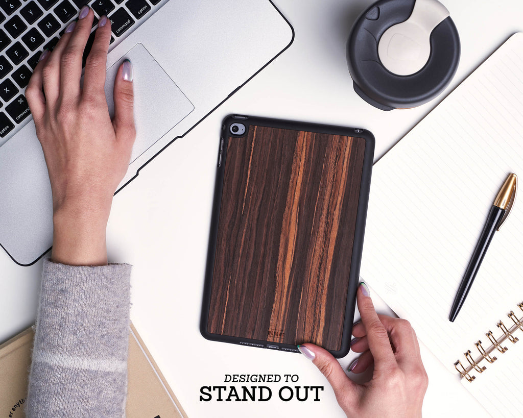 Ipad Case - Ebony Wood