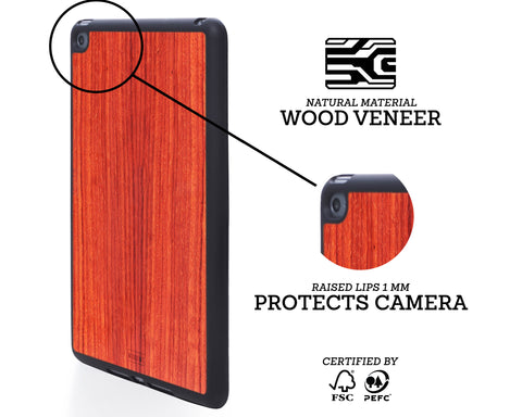 ipad case cover wood protection protective padauk mini air pro