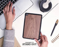 Ipad Case - Walnut Wood