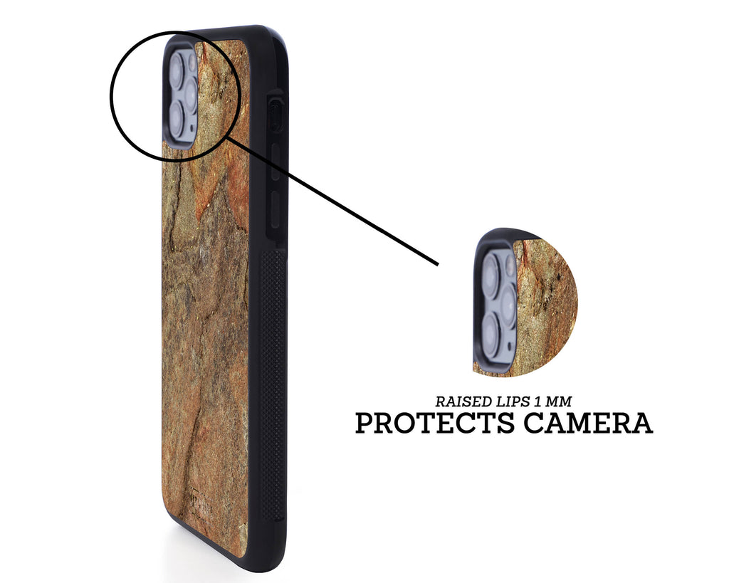 iphone case cover stone protection protective burning forest