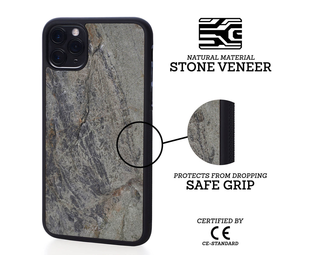 iphone case cover stone protection protective silver grey
