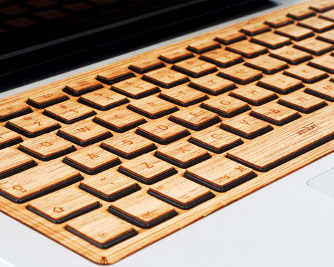 Macbook Wood Keyboard Skin - Bamboo