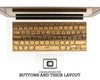 Macbook Wood Keyboard Skin - Black Frake