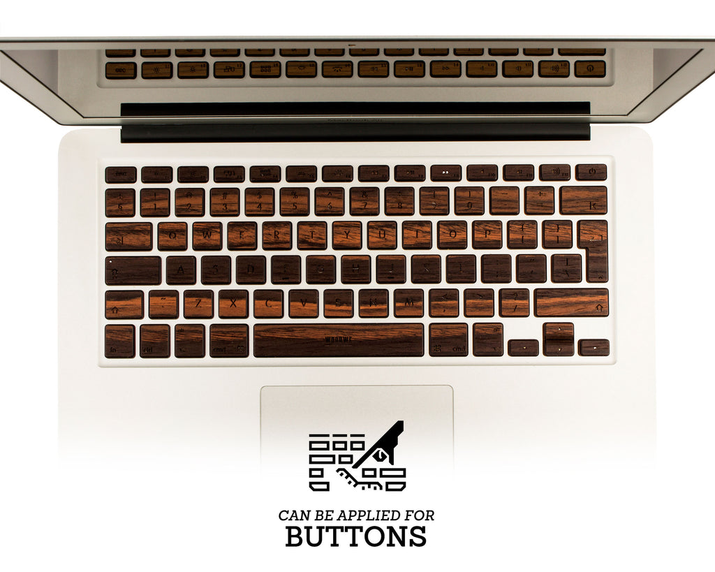 Macbook Wood Keyboard Skin - Ebony