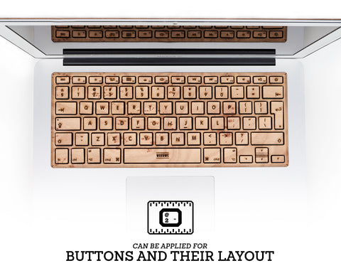 Macbook Wood Keyboard Skin - Elm Burl