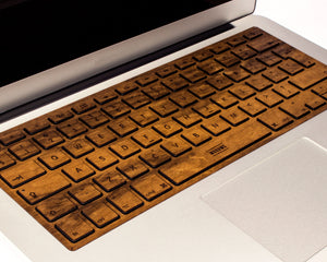 Macbook Wood Keyboard Skin - Imbuia