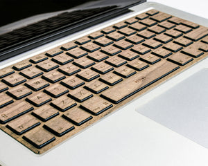 Macbook Wood Keyboard Skin - Walnut