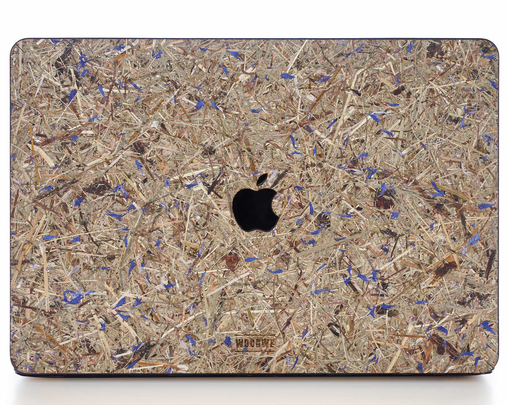 MACBOOK PROTECTIVE CASE - Made of Real Hay - Kornblume