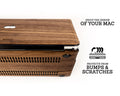 MACBOOK PROTECTIVE CASE - Made of Real Wood - Walnut