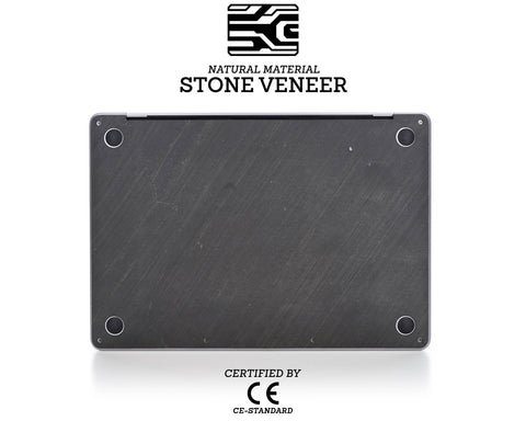Macbook Stone Cover - Dark Black