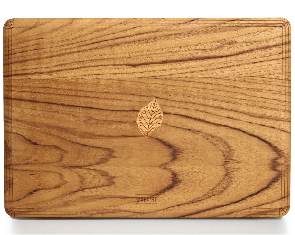Teak Leaf – Story of Drought - Macbook Wood Cover