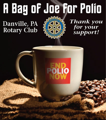 Bag of Joe for Polio - Costa Rican La Pastora Tarazu Medium Roast FUNdraiser
