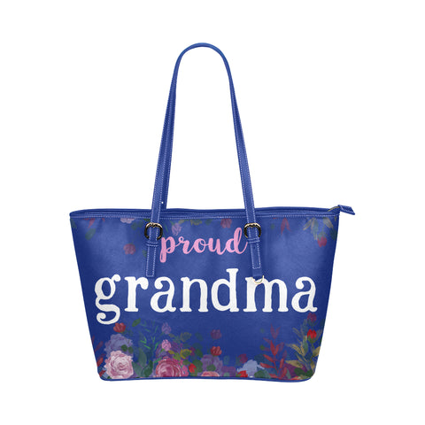 Proud Grammie Tote Bag-Blue