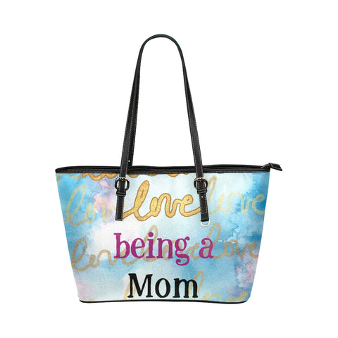Love Being Mom Tote BLK