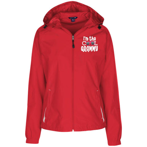 I'm The Cool Grammy Ladies' Jersey-Lined Hooded Windbreaker.