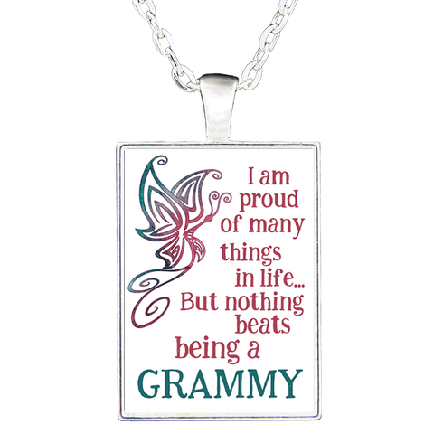 Butterfly Proud-Custom Rectangular Necklace