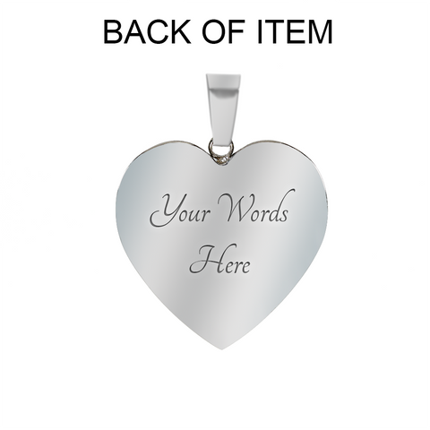 Image of Love you Moon Back-Black -necklace