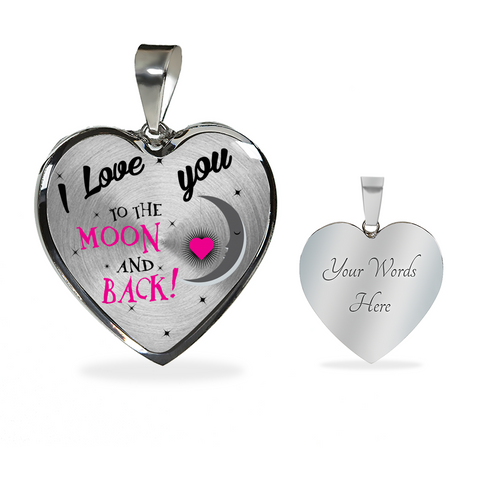 love You Moon Back-Luxury heart