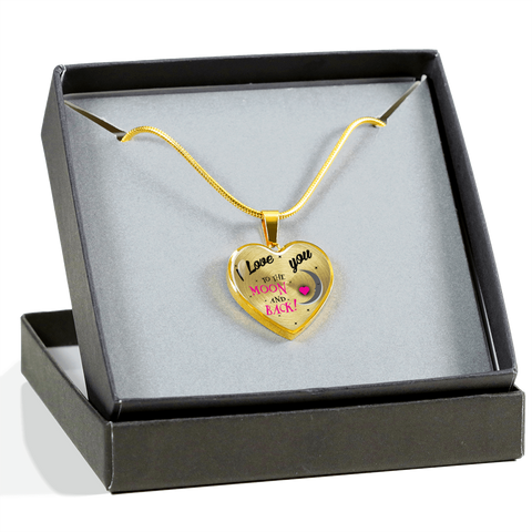Image of love You Moon Back-Luxury heart