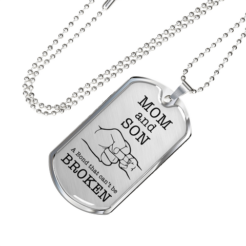 Mom and Son - Luxury Dog Tag