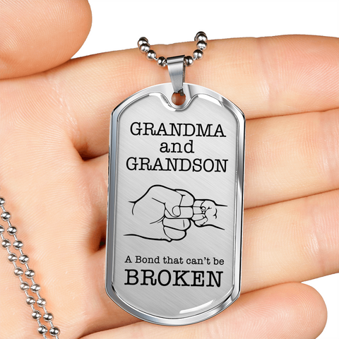 Grandma and Grandson- Bond-Luxury Dog Tag