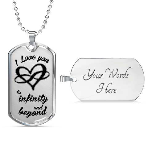 Infinity Beyond Luxury Dog tag