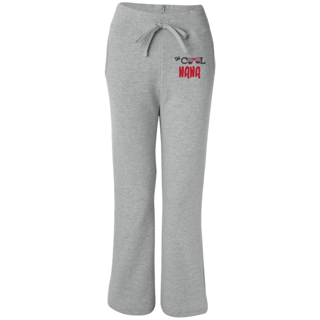 the cool nana womens open bottom sweatpants with pockets
