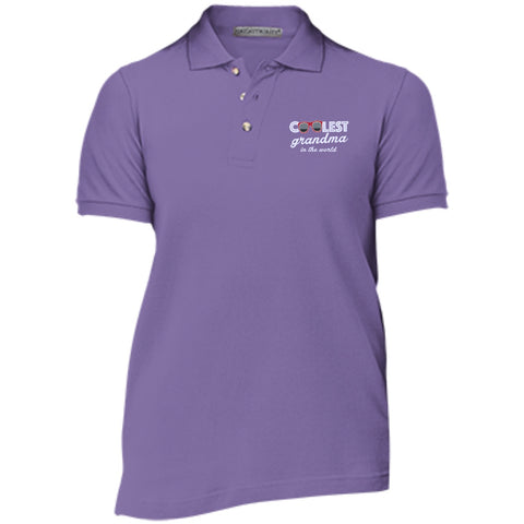 Polo Shirts - Coolest Grandma Cotton Pique Knit Polo