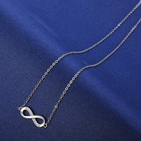 Infinity Pendants Silver color