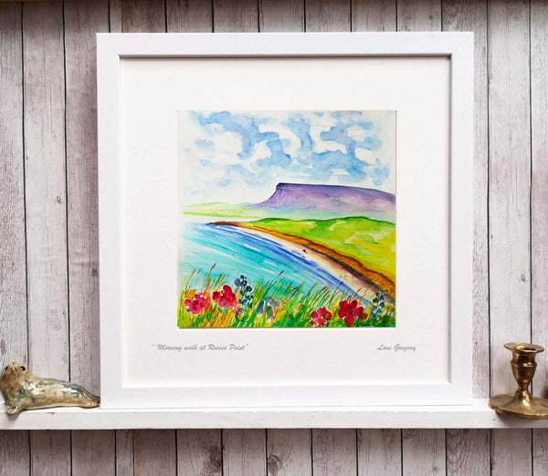 """ Morning walk at Rosses Point"""