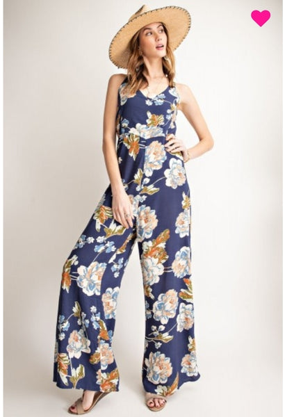 Printed Challie Jumpsuit