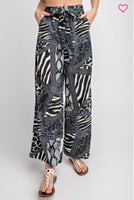 CARMEN ANIMAL PRINTED WIDE LEG PANTS