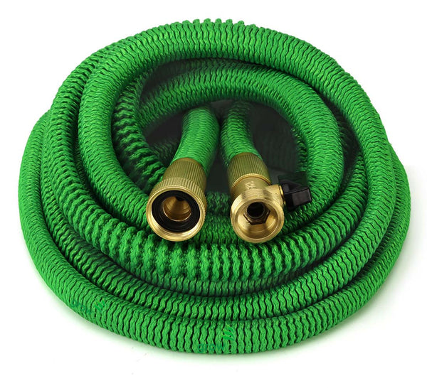 GrowGreen All New 2019 Garden Hose {4 Sizes} Improved Expandable Hose with All Brass Connectors, 8 Pattern Spray and High Pressure, Expanding Garden Hose.