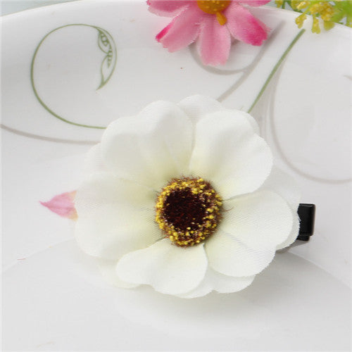 1PC Fabric Flower Girls Hairpins Princess Hair Accessories Hair Ornaments Children Lovely Flora Barrette Hair Clip