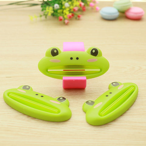 1 pcs multicolor Cute Animal Multifunction portable Plastic Toothpaste Squeezer Bath Toothbrush Holder bathroom sets home items