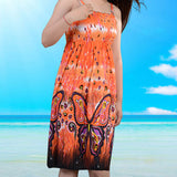 Free shipping Fashion Retro 1960s 1970s Vintage Paisley Print Hippie Bohemian Summer Dress Women Beach Dress