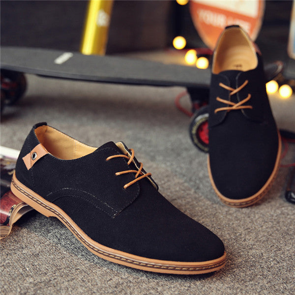 2017 Hot Sale Fashion Men Suede Leather Casual Shoes men spring autumn tide brand Designer Casual Men Shoes Lace Up Shoes Men