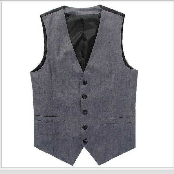 2017 New Arrival suits Vests For Men Slim Fit Male Waistcoat Casual Sleeveless Formal Business vest