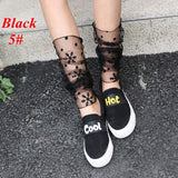 1Pair Dual Function Women's Fashion Summer Fishnet Silk Anti-UV Gloves Or Leg Warmers Lace Hollow Out Mesh Socks