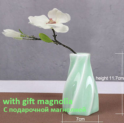 1 Piece Small Size Flower Holder 7 Style For Choose Lovely Jardiniere Home Decoration Ceramic  Vase