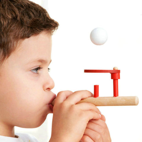 1 Pc Ball Floating Game Blow Toy Outdoor Funny Sports Pipe Balance Wooden Educational Developing Kids Toys for Children Games