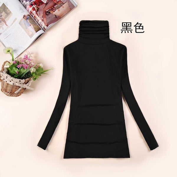 New High Quality Fashion Autumn Winter Piles Turtleneck Sweater Women Elastic Pullovers Long Sleeve Big Size Girls Clothing 952