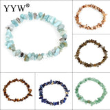 12 Colors Natural Gem stone Bracelet Healing Elastic Charm Chip Beads Crystal Bracelets For Women Fashion Jewelry Boho Bangles