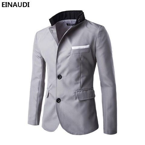 3c392ef4c1f EINAUDI Men Blazer 2017 New Arrival Clothes Listing Fashion Top Brand Mens  Suit Terno Casual Slim ...