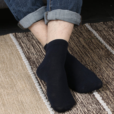 1 Pair 5 Color Men's High Quality Pure Color Wool 80% Socks Casual Male Middle Socks