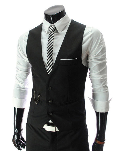 2017 NEW Men's clothing Business Blazers Sleeveless Waistcoats Slim fit male Vests Formal Suits Vest Plus size M-3XL MQ219