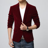 2017 Brand New Fashion Unique Mens Suits Blazer Styles Men Corduroy Single Button Notched Collar Men Blazers and Jackets 2017