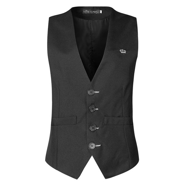 2017 Men's clothing 4 buttons Business Sleeveless Waistcoat Slim Fitness male Vests Formal Work Suits Vest Plus size M-3XL MQ230